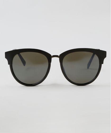 8fdc1615d Oculos-de-Sol-Redondo-Feminino-Oneself-Preto-9464736- ...