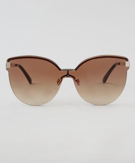 dfa9cc325be68 Oculos-de-Sol-Redondo-Feminino-Oneself-Marrom-9464689-