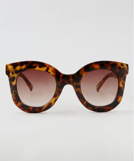 Oculos-de-Sol-Redondo-Feminino-Oneself-Tartaruga-9464671-Tartaruga_1