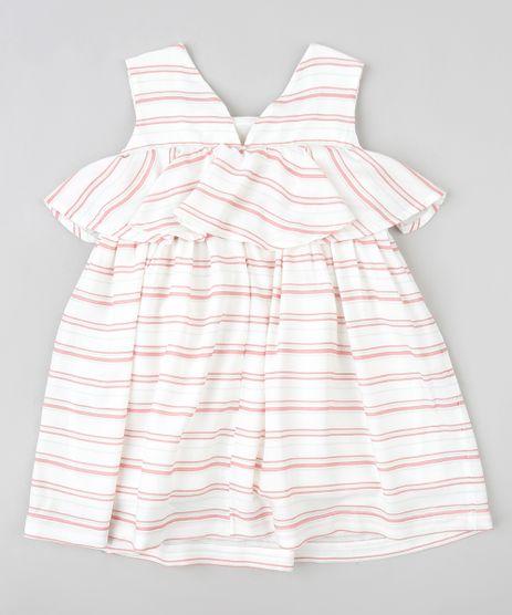 Vestido-Infantil-Listrado-com-Sobreposicao-Sem-Manga-Branco-9174578-Branco_1