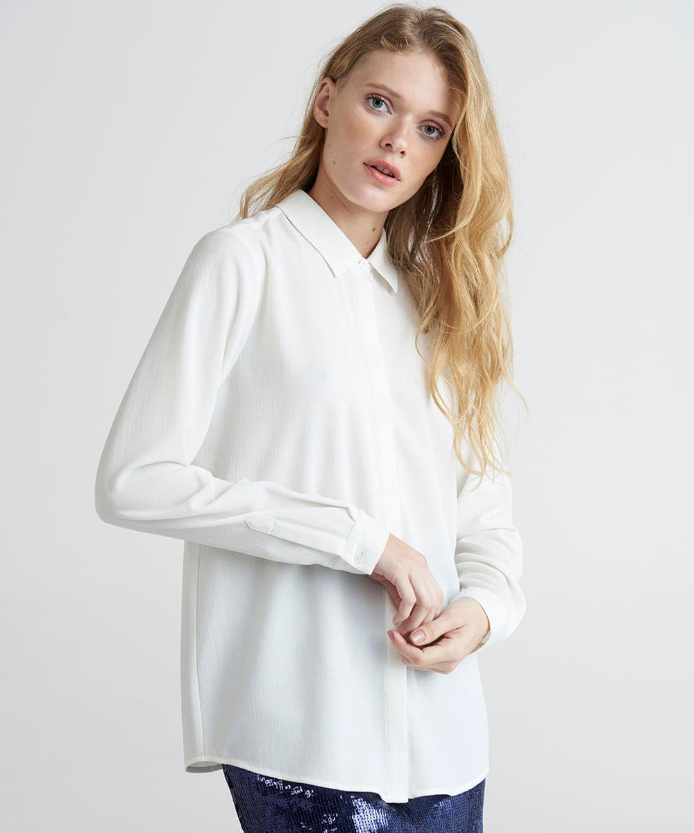 c0976e3ee ... Camisa-Feminina-Mindset-Manga-Longa-Branca-9385668-Branco 1