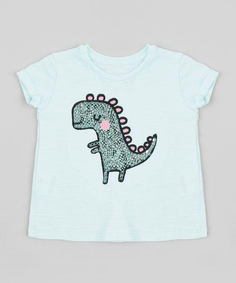 Blusa-Infantil-Dinossauro-com-Paetes-e-Bordado-Manga-Curta-Decote-Redondo-Verde-Claro-9381675-Verde_Claro_1