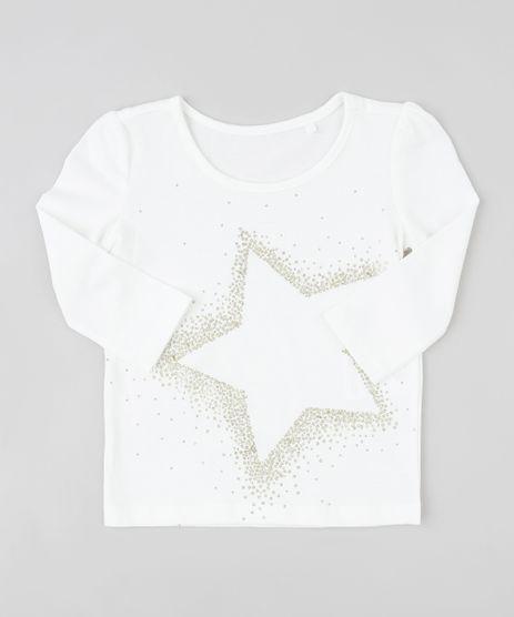 Blusa-Infantil-com-Estampa-de-Estrela-Manga-Longa-Decote-Redondo-Branca-9253782-Branco_1
