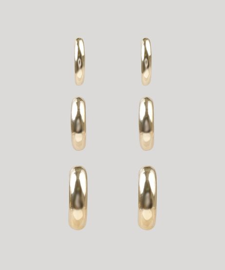 Kit-de-3-Brincos-Femininos-de-Argola-Dourado-9261824-Dourado_1