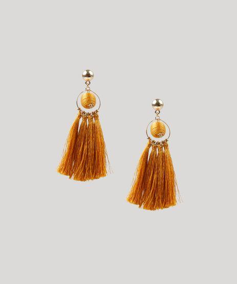Brinco-Feminino-com-Argola-e-Tassel-Dourado-9208638-Dourado_1