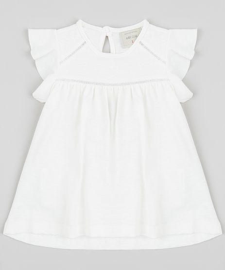 Blusa-Infantil-com-Babados-Manga-Curta-Decote-Redondo-Off-White-9413304-Off_White_1