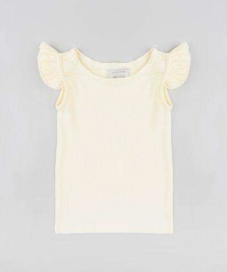 Regata-Infantil-Basica-Canelada-com-Babados-Decote-Redondo-Amarela-Claro-9413307-Amarelo_Claro_1