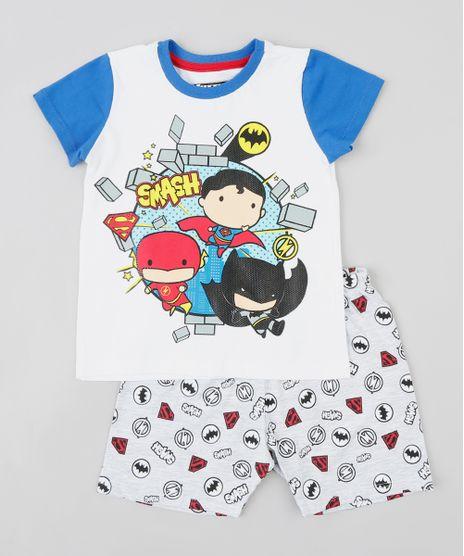 Pijama-Infantil-Liga-da-Justica-Manga-Curta-Off-White-9341548-Off_White_1