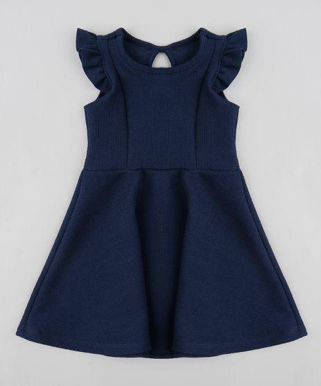 Vestido-Infantil-Evase-com-Babados-Sem-Manga-Azul-Marinho-9413303-Azul_Marinho_1