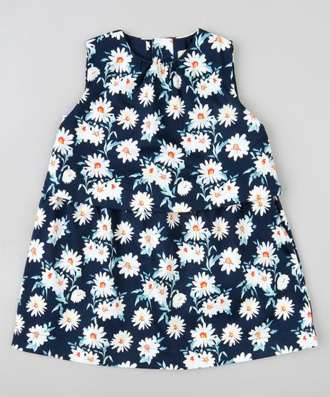 Vestido-Infantil-com-Sobreposicao-Estampado-Floral-Sem-Manga-Azul-Marinho-9199212-Azul_Marinho_1