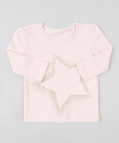 Blusa-Infantil-com-Estampa-de-Estrela-Manga-Longa-Decote-Redondo-Rose-9253783-Rose_1