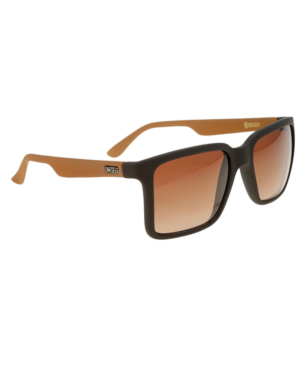 Óculos de Sol Quadrado Masculino Oneself Marrom - Unico 6853842ce2