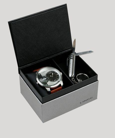 Kit-de-Relogio-Analogico-Dual-Time-Lince-Masculino---Chaveiro-Canivete---MRCH080S-KD44P2NX-Prateado-9396618-Prateado_1