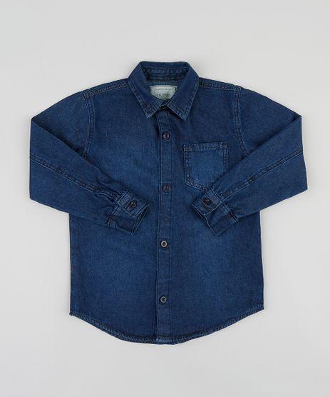 Camisa-Jeans-Infantil-com-Bolso-Manga-Longa-Azul-Escuro-9396994-Azul_Escuro_1
