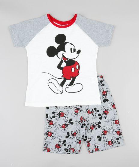 Pijama-Infantil-Mickey-Raglan-Manga-Curta-Off-White-9341162-Off_White_1