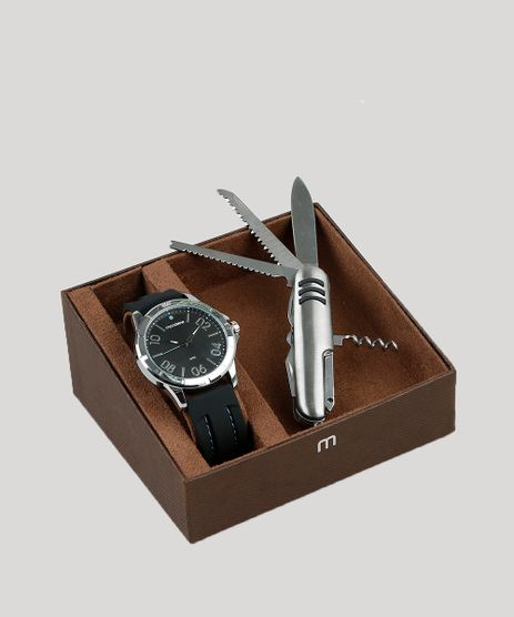 Kit-de-Relogio-Analogico-Mondaine-Masculino---Canivete---99378G0MVNI1K-Prateado-9398549-Prateado_1