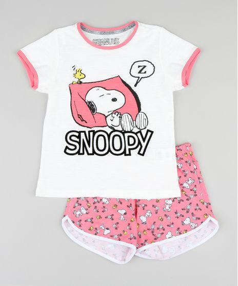Pijama-Infantil-Snoopy-Manga-Curta-Off-White-9340401-Off_White_1
