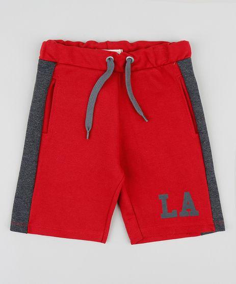 Bermuda-Infantil-em-Moletom-com-Recortes-na-Lateral-Vermelha-9394228-Vermelho_1