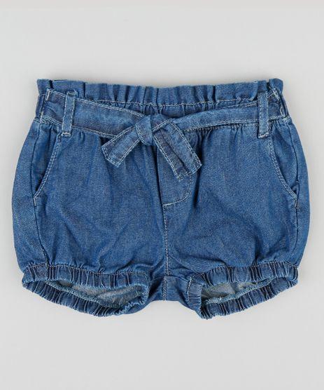 Short-Jeans-Infantil-Balone-com-Faixa-para-Amarrar-Azul-Medio-9341276-Azul_Medio_1