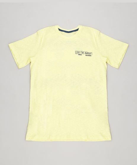 Camiseta-Infantil--Live-the-Moment--Manga-Curta-Gola-Careca-Amarela-9389588-Amarelo_1