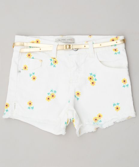 Short-Color-Infantil-Estampado-Floral-com-Cinto-Off-White-9285287-Off_White_1