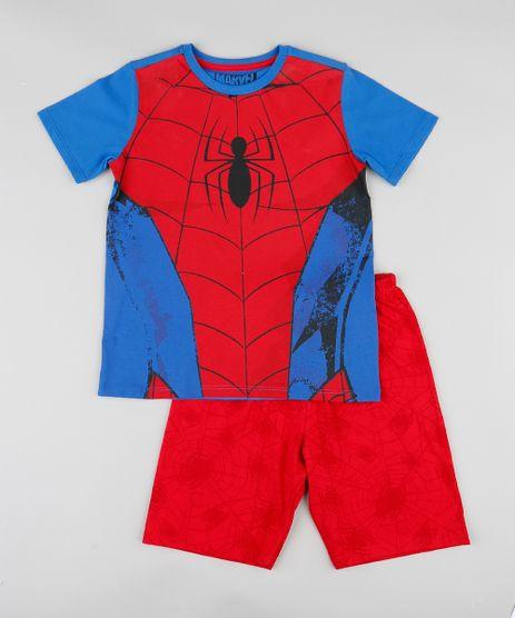 Pijama-Infantil-Homem-Aranha-Manga-Curta-Azul-Royal-9341829-Azul_Royal_1