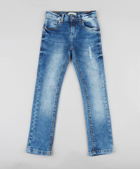 Calca-Jeans-Infantil-Skinny-com-Puido-Azul-Medio-9329288-Azul_Medio_1