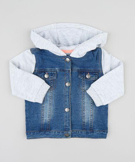 Jaqueta-Jeans-Infantil-com-Capuz-Manga-Longa-em-Moletom-Azul-Medio-9201523-Azul_Medio_1