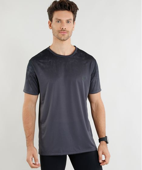 Camiseta Masculina Esportiva Ace com Estampa Degradê Manga Curta ... b5f39557f6053
