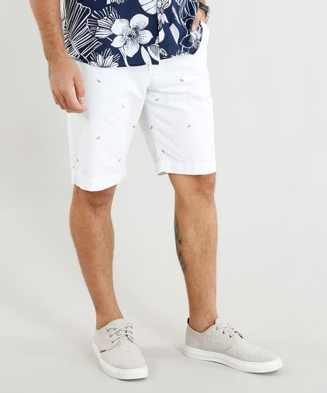 Bermuda-de-Sarja-Masculina-Estampada-Mini-Print-de-Folhagens-Off-White-9386396-Off_White_1