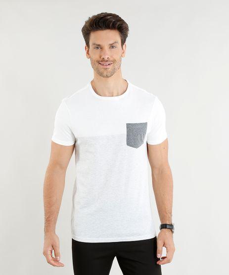 Camiseta-Masculina-Slim-Fit-com-Recorte-e-Bolso-Manga-Curta-Gola-Careca-Off-White-9352124-Off_White_1