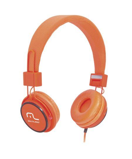 Fone de Ouvido Headphone Com Microfone Headfun Laranja Multilaser Ph086