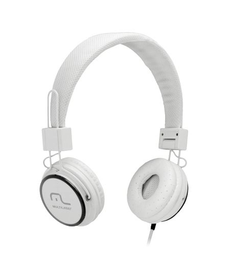Fone de Ouvido Headphone Com Microfone Headfun Branco Multilaser Ph087