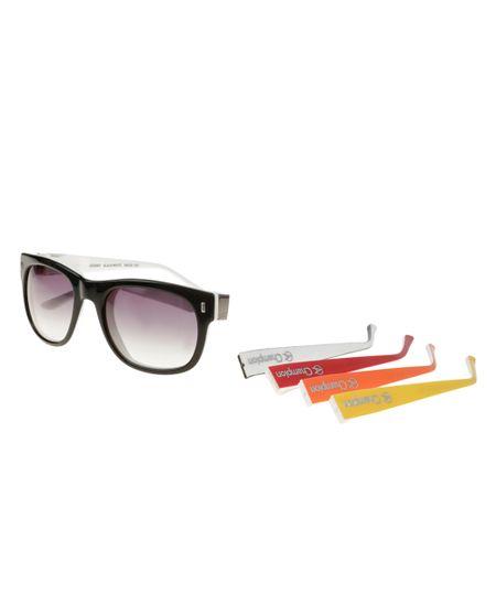 Óculos de Sol Quadrado Troca Hastes Champion Preto - cea 29b8df0421