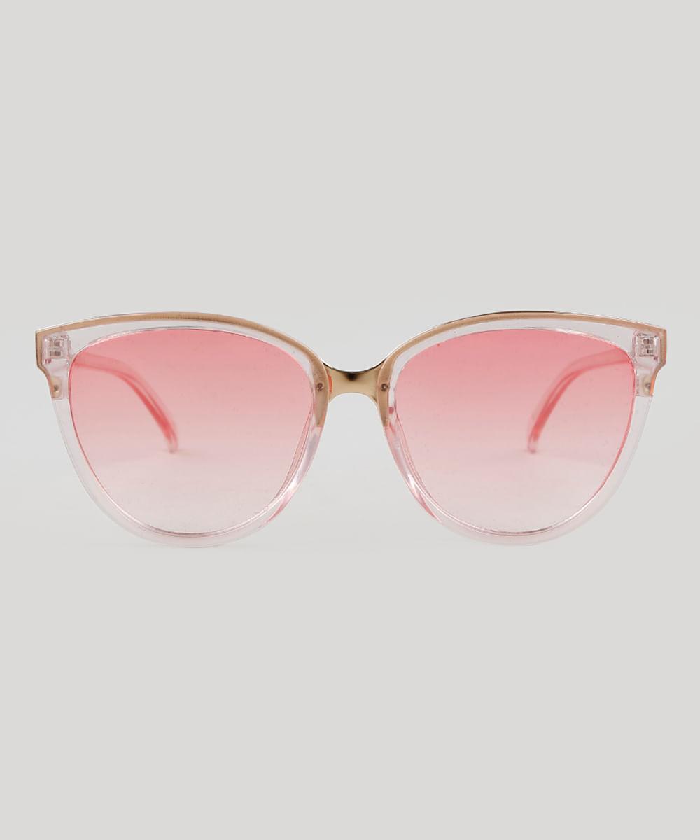 Óculos de Sol Redondo Feminino Oneself Rosa - Único fdf9718262