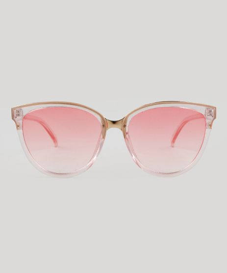 9b8ed487431ba Oculos-de-Sol-Redondo-Feminino-Oneself-Rosa-9464668-