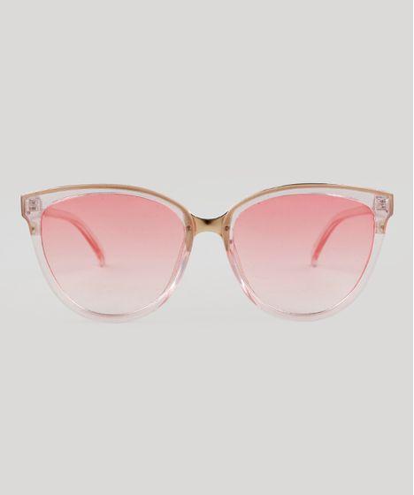 9501eb9e0 Oculos-de-Sol-Redondo-Feminino-Oneself-Rosa-9464668- ...