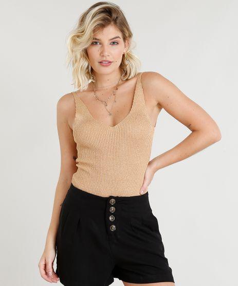 Body-Feminino-em-Trico-Canelado-com-Lurex-Decote-V-Dourado-9260356-Dourado_1