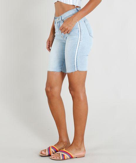 Bermuda-Jeans-Feminina-Ciclista-com-Faixa-Lateral-Azul-Claro-9454247-Azul_Claro_1