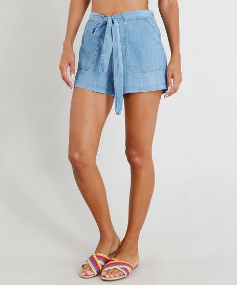 Short-Jeans-Clochard-Feminino-com-Amarracao-Azul-Claro-9365644-Azul_Claro_1