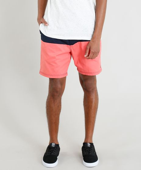 Short-Masculino-Bicolor-com-Cordao-Coral-9386392-Coral_1