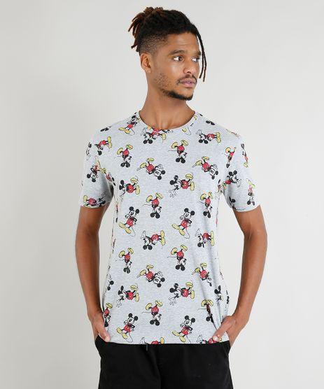 Camiseta-Masculina-Mickey-Mouse-Estampada-Manga-Curta-Cinza-Mescla-9380547-Cinza_Mescla_1