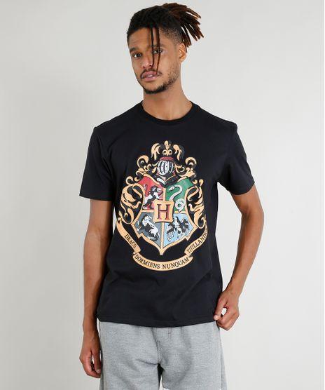 Camiseta-Masculina-Harry-Potter-Manga-Curta-Gola-Careca-Preta-9389806-Preto_1