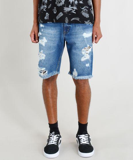 Bermuda-Jeans-Masculina-Destroyed--Azul-Escuro-9402532-Azul_Escuro_1