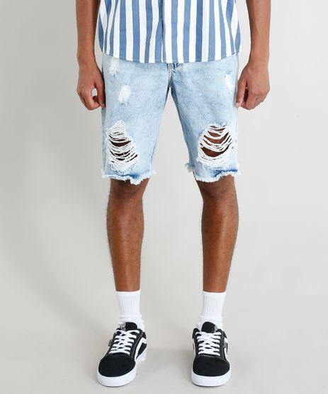 Bermuda-Jeans-Masculina-Destroyed-Marmorizada-Azul-Claro-9386395-Azul_Claro_1