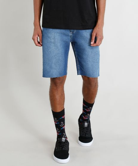 Bermuda-Jeans-Masculina-com-Cadarco-Azul-Escuro-9402530-Azul_Escuro_1