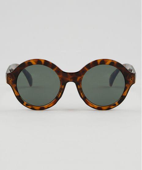 Oculos-de-Sol-Redondo-Feminino-Oneself-Tartaruga-9474162-Tartaruga_1