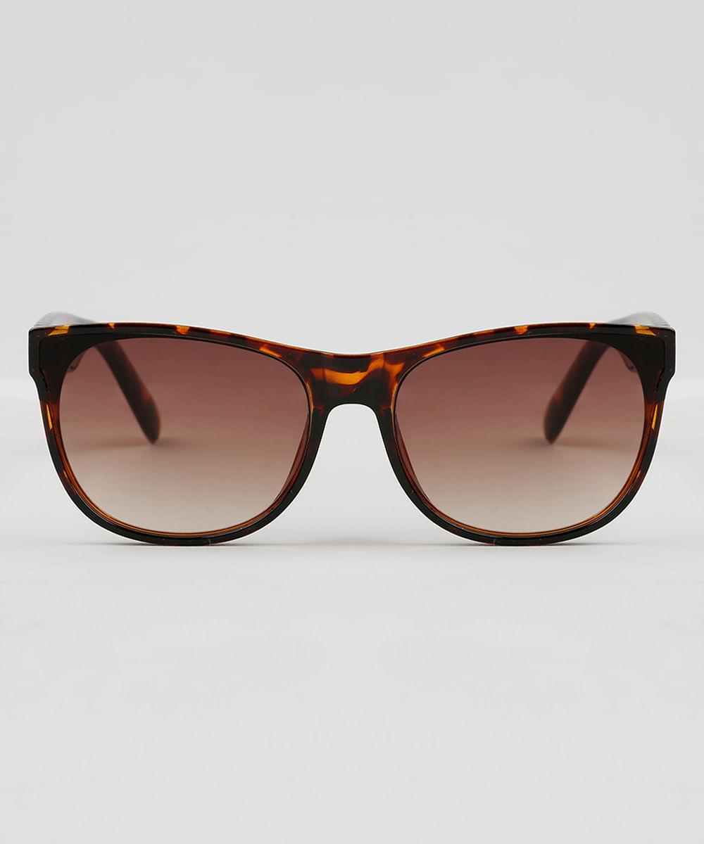 Óculos de Sol Quadrado Feminino Oneself Tartaruga - ceacollections e036bbdbbf