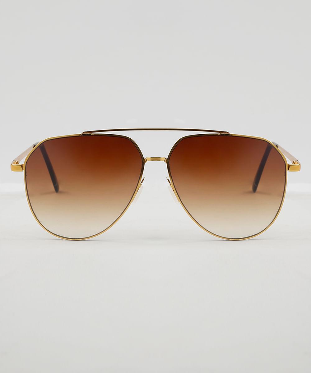 232e5e8d58910 ... Oculos-de-Sol-Aviador-Feminino-Oneself-Dourado-9474102-