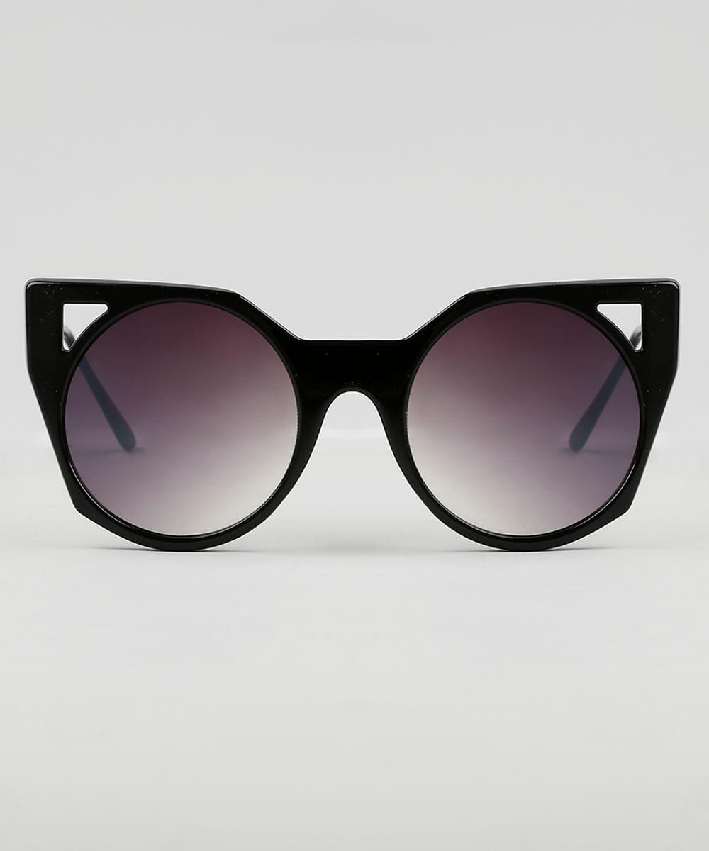 d6a2e24f2 Óculos de Sol Gatinho Feminino Oneself Preto - ceacollections